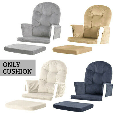 5 Pcs Glider Cushion Set for Baby Nursery Rocker Chair Velvet Removable 3 Colors