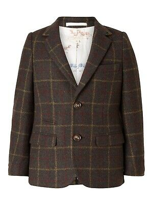 John Lewis Heirloom Collection Boys' Check Jacket in Green Age 10