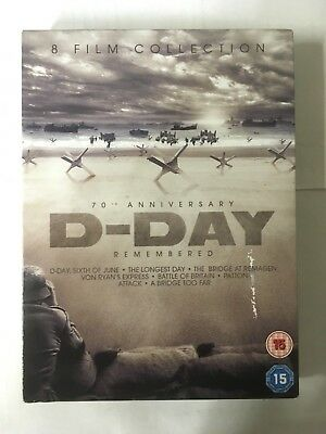D-Day Remembered - 8-Film Coll; 6 June/Longest Day/Battle Britain... DVD G WA2