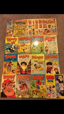 Collection of Vintage Comic Annuals Job Lot (Beano,Dandy,turtles,busty)