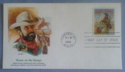 First day of issue, 1994 Legends of the West, Home on the Range, Scott # 2869a