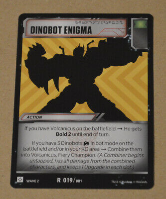 TRANSFORMERS Wave 2 TCG | Battle Card = R 019 Dinobot Enigma - RARE