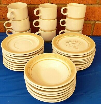 1970's - 1980's PLATE / BOWL / CUP & SAUCER Genuine Stoneware - Japan MIXED LOT
