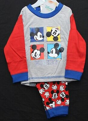Baby Boy's Disney MICKEY MOUSE Pyjamas NWT Cotton PJs Sizes from 6-24 Months