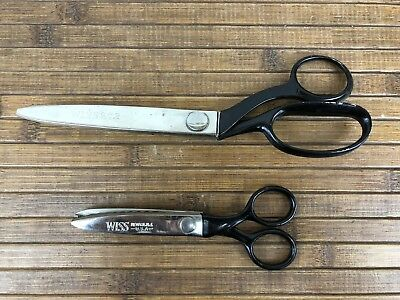 "Vintage WISS Professional Shears ZigZag Scissors Lot CB9 and 5 1/2"" pair"