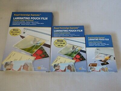 100 sheets (200 Micron) A3 A5 A6 A7 Laminating Pouch Film Protect Photo Gloss