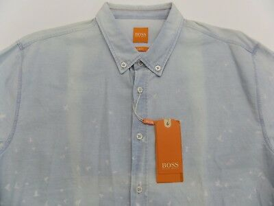 6dc2c9ebc New Hugo Boss Orange Edipoe Slim Fit Button Down Shirt Mens Xl $ 175 Tao