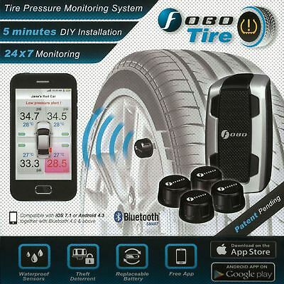 Fobo Tyre Pressure Monitor TPMS Bluetooth 4.0 Black 3v Android & iOS Compatible