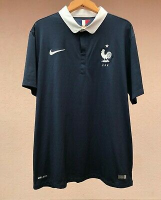 7effd688db587 France National Team 2014 Home Football Soccer Shirt Jersey Maillot Nike  Maglia