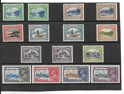 TRINIDAD AND TOBAGO.1935-37 SHORT SET TO 24c. MH.+ PERF TYPES + JUBILEE SET.(15)