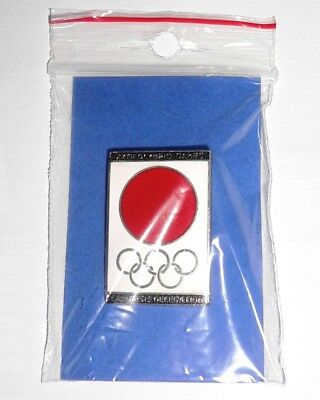1972 Olympic Games Munich OFFICIAL JOC Japanese DELLEGATION PIN BADGE VERY NICE!