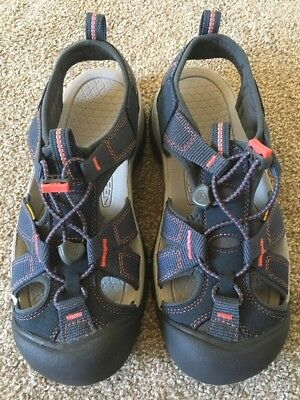 bcd12bfc43 Keen Venice H2 Sandal - Women's Size 7.5 - Midnight Navy/Hot Coral - New