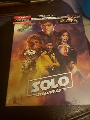 Solo A Star Wars Story 4K Ultra Hd Blu Ray Target Exclusive Digipack Brand New