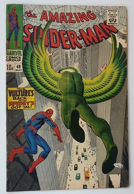 VINTAGE 1967 MARVEL COMIC 'AMAZING SPIDER-MAN' #48 (FN) UK 10d COVER PRICE