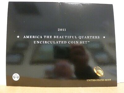 2011 P & D US Mint America the Beautiful Uncirculated 10 Coin Quarter Set