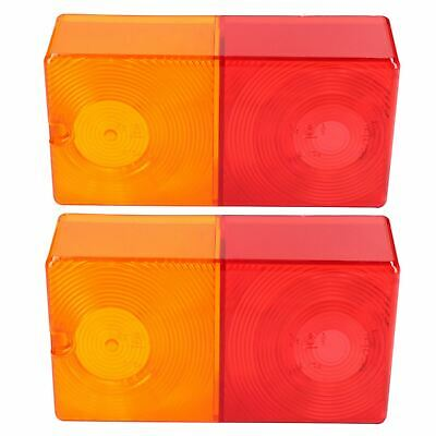 Pair Replacement Rear Trailer Light Combination Lamp Lens Genuine Britax