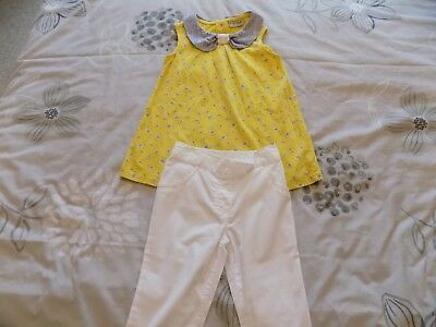 Next Girls Top & 3/4 Length Trousers - 4-5 Years