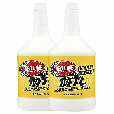 Red Line MTL Fully Synthetic 75W80 Gear/Gearbox Oil GL4 - 2 x 0.94 Litre Bottles