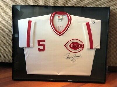 c1f8feb6cbb Johnny Bench Signed Reds Custom Framed Jersey (JSA) Hall of fame Catcher
