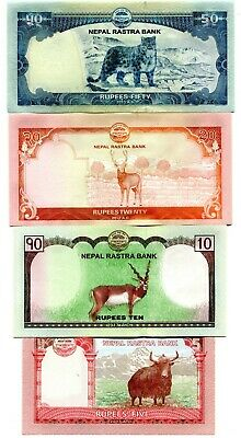 SET Nepal UNC Everest Animals 5;10;20;50;100;500 Rupees 2012-2017 P-New