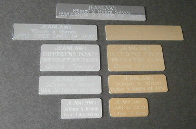 Engraving Plate, Self Adhesive Gift Label, Sports Signs or Plaque Picture