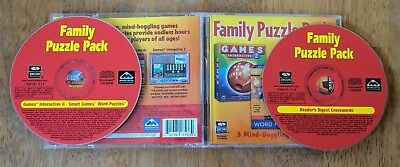 Family Puzzle Pack Windows PC CD-ROM - 2001 Game Reader's Digest Crosswords
