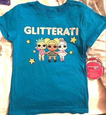 "LOL Surprise Glitterati /""Making My Debut/"" Graphic Tee Blue Blue"