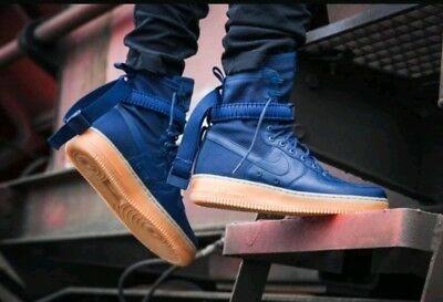 the best attitude 4f5a0 6ce9d SIZE 12 MEN'S Nike SF AF1 AIR FORCE Midnight Navy Blue 864024 400 Special  Forces