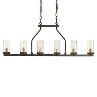 Progress Lighting Hartwell 34 in. 6-Light Antique Bronze Island Chandelier NR!!!