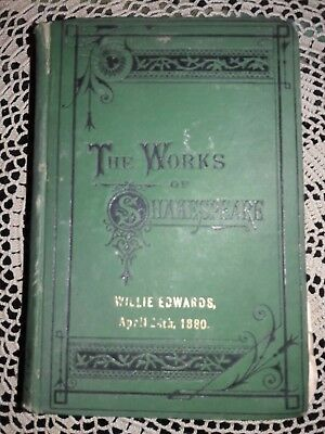 The Works of Shakespeare pub. by T.Y.Crowell Circa Late 1800's Early 1900's