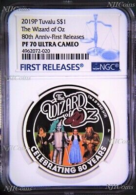 2019 THE WIZARD OF OZ 80th Anniversary Proof $1 1oz Silver COIN NGC PF 70 FR