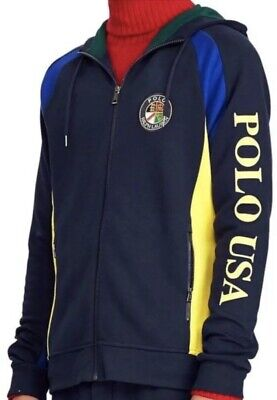 9a900b123 Polo Ralph Lauren Downhill Skier Men's Double-Knit Hoodie Size M NWT MSRP  $228