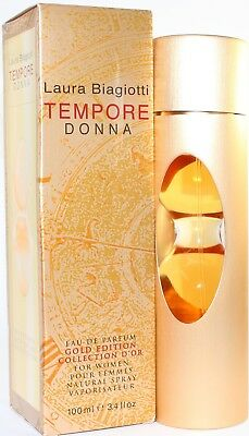 Laura Biagiotti Tempore Donna Gold Edition 3.4 oz EDP Eau De Parfum New In Box