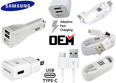 OEM Samsung Galaxy S5 S6 S7 S8 S9 S10 Note8 Fast Charging Car Wall Charger Cable