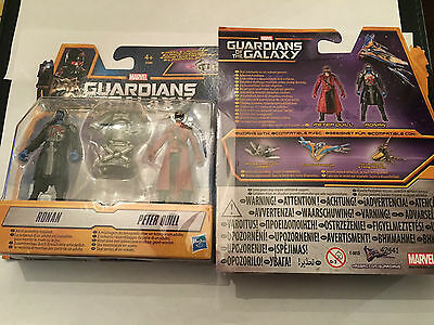 MARVEL Guardians of the Galaxy twin pack Ronan Peter quill + missile launcher