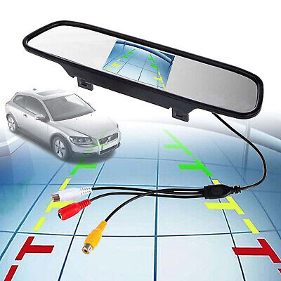 800*480 Car Rear View Mirror Monitor For Parking Reverse Camera 4.3'' TFT LCD