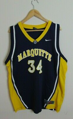 new style 07c47 9474f Nike Elite Men s XL Marquette Basketball Away Jersey  34 Golden Eagles  Swoosh