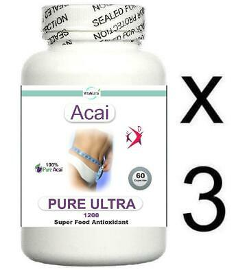 Acai Berry 100% Pure Weight Loss Diet Pills 1200mg Slimming Anti Oxodient Tablet