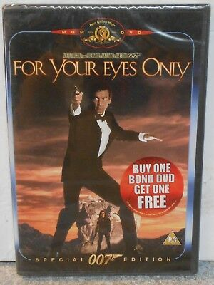 For Your Eyes Only (Dvd 2000) Rare 1981 Action Thriller Brand New ( Region 2 )
