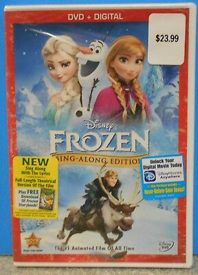 Frozen (DVD, 2014, Sing-Along Edition Includes Digital Copy) BRAND NEW