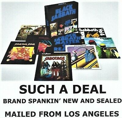 BLACK SABBATH - THE COMPLETE ALBUMS 1970 - 1978 (8 CD's) Mailed From Los Angeles