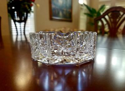 """Waterford Crystal ~ EARLY ERA 3.5"""" ASH TRAY ~ NEW AND UNUSED ~ BEAUTIFUL"""