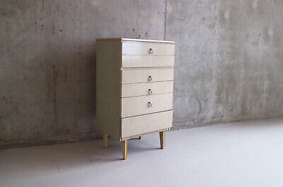 1960's mid century vintage tall chest of drawers