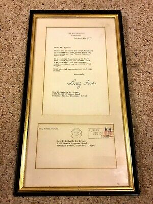 Betty Ford Autograph Signed White House Letter Framed
