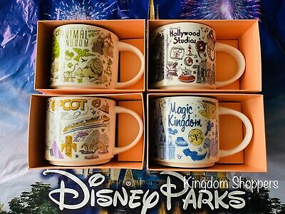 Disney Parks Starbucks Been There Series 2019 Set Of All 4 Parks Ceramic Mugs