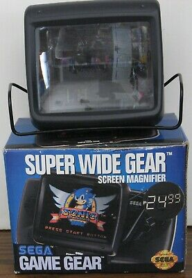Sega Game Gear Super Wide Gear Screen Magnifier with Box - 1992 Vintage