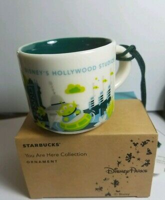 Disney's Hollywood Studios You Are Here Starbucks 2 Oz Demitasse Ornament NEW