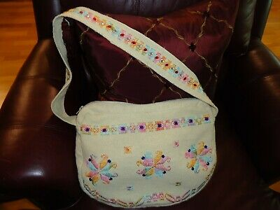 Hand Made Woman's Flower Embroidery Super  Cute    Shoulder Bag Purse ToteBag