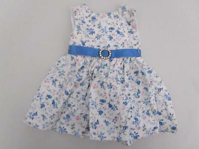 BLUE ROSE PRINT DRESS  Fits Chatty Cathy  American Girl FREE SHIPPING