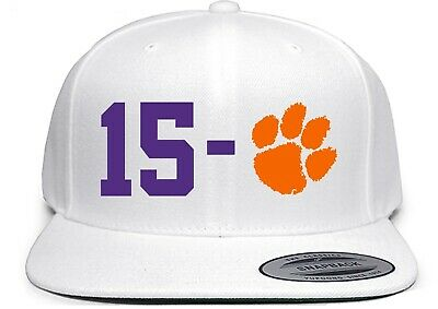 White Trevor Lawrence Clemson Tigers 15-0 National Champions Snapback Hat